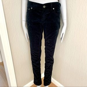FREE PEOPLE Black Velvet Skinny Jeans 29